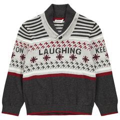 Pull en tricot avec motifs fantaisie en jacquard