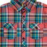 Junior - Geruit hemd met lange mouwen en zakken