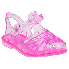Sandales de plage roses transparentes
