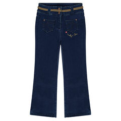 Flared jeans uit molton