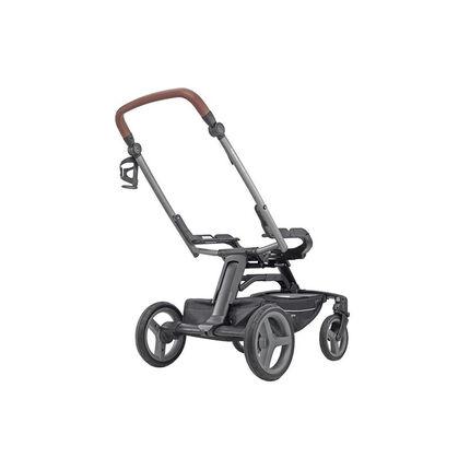 Onderstel wandelwagen Quad - Titanium/black cognac