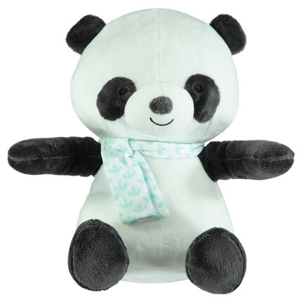 In wattering en fluweel met panda's