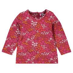 Tee-shirt manches longues fleuri