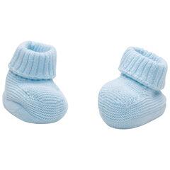 Blauwe pantoffels van biokatoen