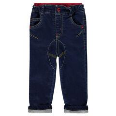 Jeans doublé jersey DC Comics avec badge patché Batman