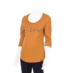 Tee-shirt de grossesse manches 3/4 à message