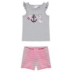 Pyjama court en jersey Disney Marie
