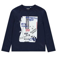 Junior - T-shirt met lange mouwen van jerseystof met fantasiemotief