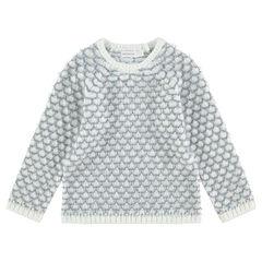 Pull en tricot avec maille effet pop-corn et manches raglan