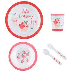 Set repas Raspberry - 5 pièces