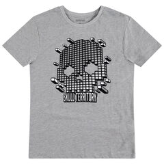 Junior - T-shirt met korte mouwen met print met grafische doodskop