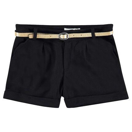Junior - Short à chevrons avec ceinture pailletée amovible