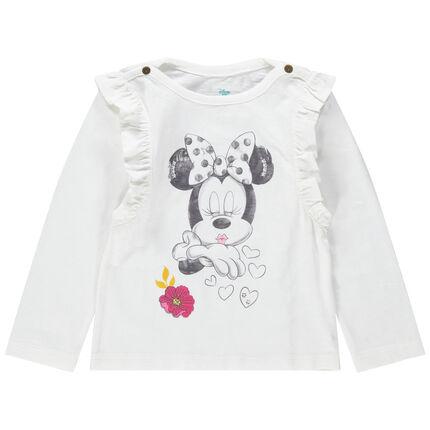T-shirt manches longues volantées print Minnie Disney