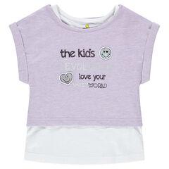 2-in-1 T-shirt met korte mouwen met ©Smiley-badges