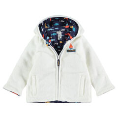 Veste en sherpa à capuche doublée molleton