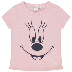 T-shirt manches courtes en coton bio print Minnie Disney