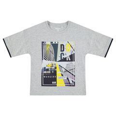 Junior - Tee-shirt manches courtes en jersey avec motif coloré printé