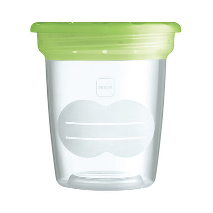 Set de 5 pots de conservation - Vert/Transparent