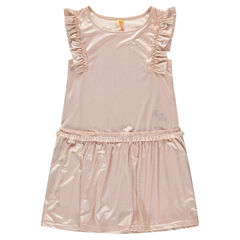 Junior - Aansluitende jurk met korte mouwen met volants