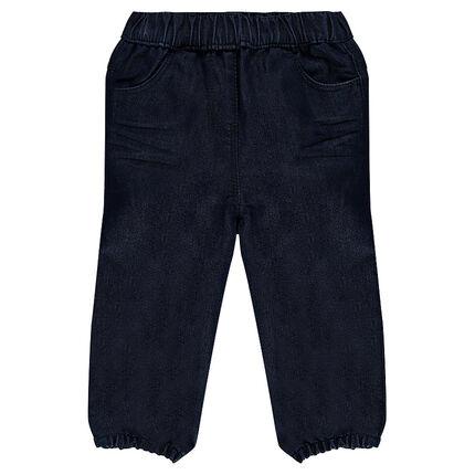 Jeansbroek elastische taille en enkels