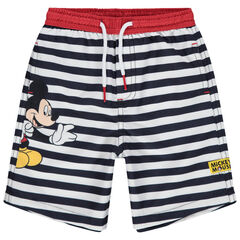 Short de bain rayé print Mickey