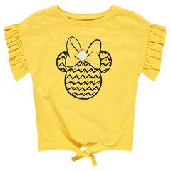 T-shirt met korte mouwen met volants en print van Minnie ©Disney