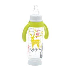 Zuigfles 330 ml met handvat Bunny Geel