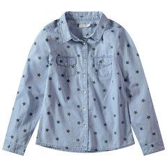 Junior - Chemise manches longues à étoiles printées all-over