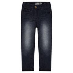 Straight-fit jeans met voering van jerseystof