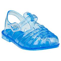 Chaussures de plage transparentes à brides