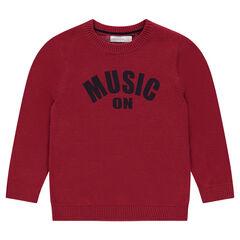 Pull en tricot avec message printé