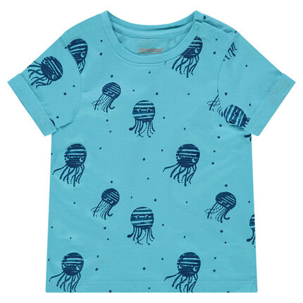 Tee-shirt manches courtes avec imprimés fantaisie all-over