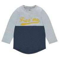 Kleurrijk t-shirt met lange mouwen en fantasieprint