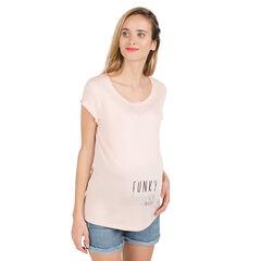 Zwangerschaps-T-shirt met korte mouwen en fantasieprint