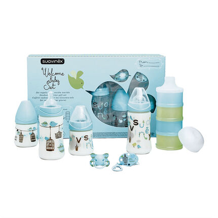 Welcome Baby zuigflessen set - Turquoise