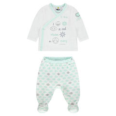 Pyjama en velours print ©Smiley Baby