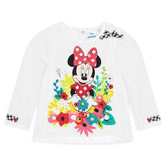 Tee-shirt manches longues Disney avec Minnie et fleurs printées