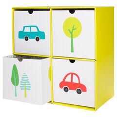 Cube de stockage en carton 4 tiroirs