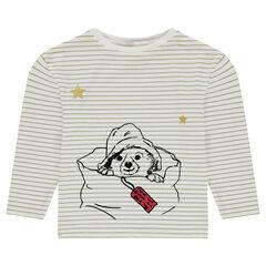 Tee-shirt manches longues rayé avec étoiles pailletées ©Paddington