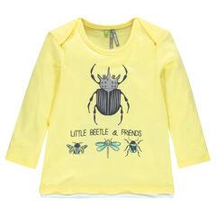 Tee-shirt manches longues en jersey avec insectes printés