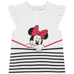 Disney T-shirt met korte mouwen met volants met print van Minnie