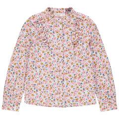 """Hemd met lange mouwen met fantasiekraag en bloemenprint """"all-over"""""""