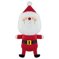 Pratende kerstman van pluche en velours