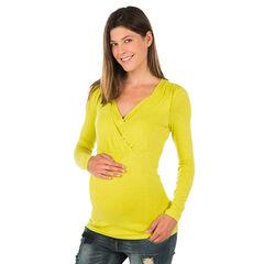 T-shirt lange mouwen geschikt voor borstvoeding
