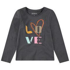 Tee-shirt manches courtes avec motif fantaisie printé