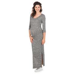 Voor tijdens de zwangerschap in gebreide ribboord