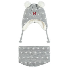Ensemble bonnet et snood doublés sherpa motif Minnie Disney