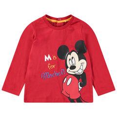 T-shirt met lange mouwen uit jerseystof met print van Mickey Disney aan de voorzijde