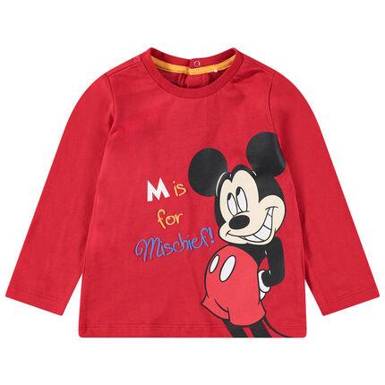 T-shirt manches longues en jersey avec print Mickey Disney sur le devant
