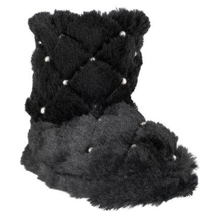 Pantoffels in gematelasseerde imitatiebont